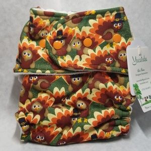 Windpro Fitted Cloth Diaper Cover-Turkeys